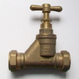 Brass 25mm Compression MDPE Alkathene Stop Cock - 07001622